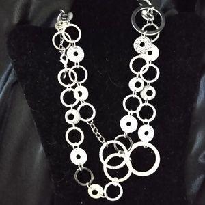 Lia Sophia Jewelry - Mixed Metals Circles Long Necklace
